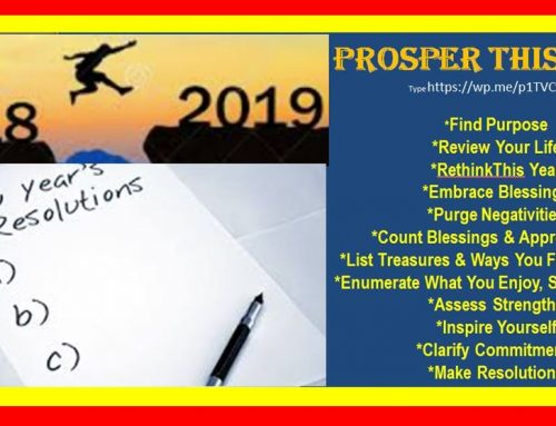 PROSPER THIS YEAR by Sasha Alex Lessin, Ph.D.