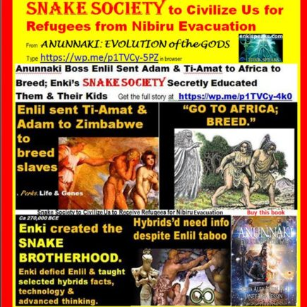 SNAKE SOCIETY TO CIVILIZE US TO RECEIVE REFUGEES FOR NIBIRU